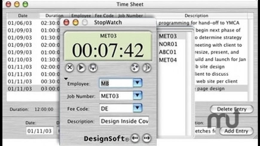 StopWatch Plus for Mac - review, screenshots
