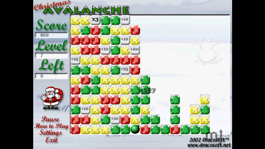 Christmas Avalanche X for Mac - review, screenshots