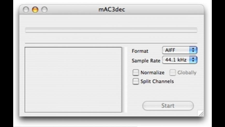mAC3dec for Mac - review, screenshots