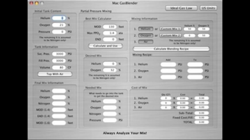 Mac GasBlender III for Mac - review, screenshots