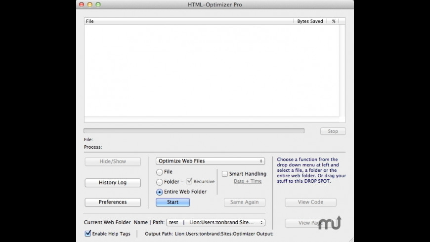 HTML-Optimizer Pro for Mac - review, screenshots