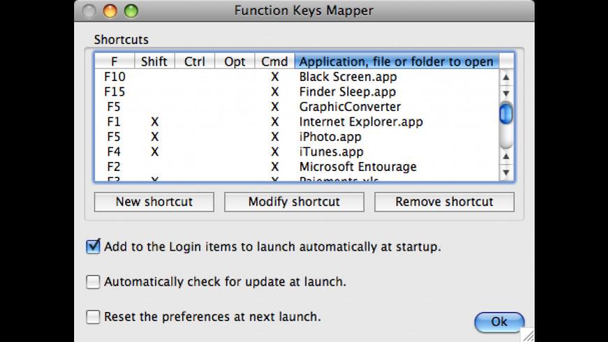 Function Keys Mapper for Mac - review, screenshots