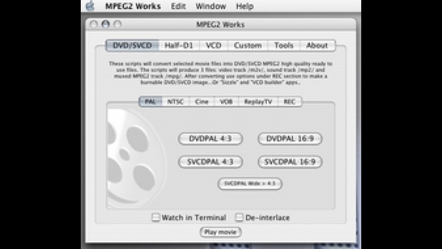 MPEG2 Works for Mac - review, screenshots