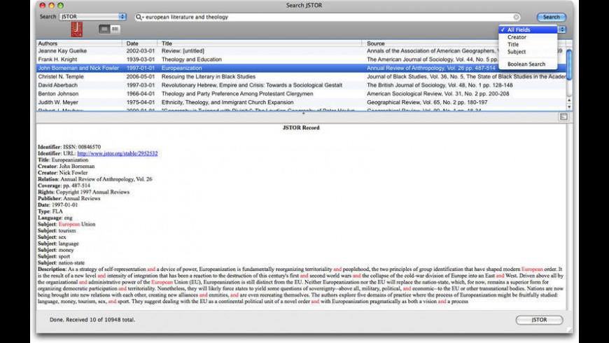 Reference Miner for Mac - review, screenshots