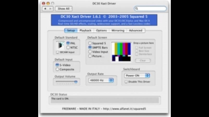 DC30 Xact Driver for Mac - review, screenshots