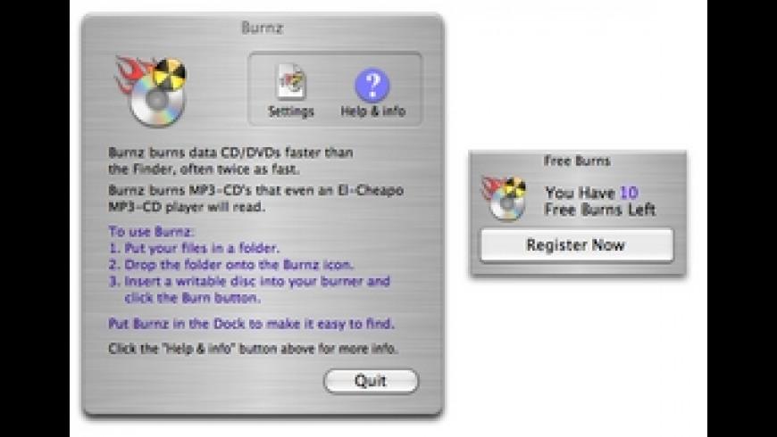 Burnz for Mac - review, screenshots