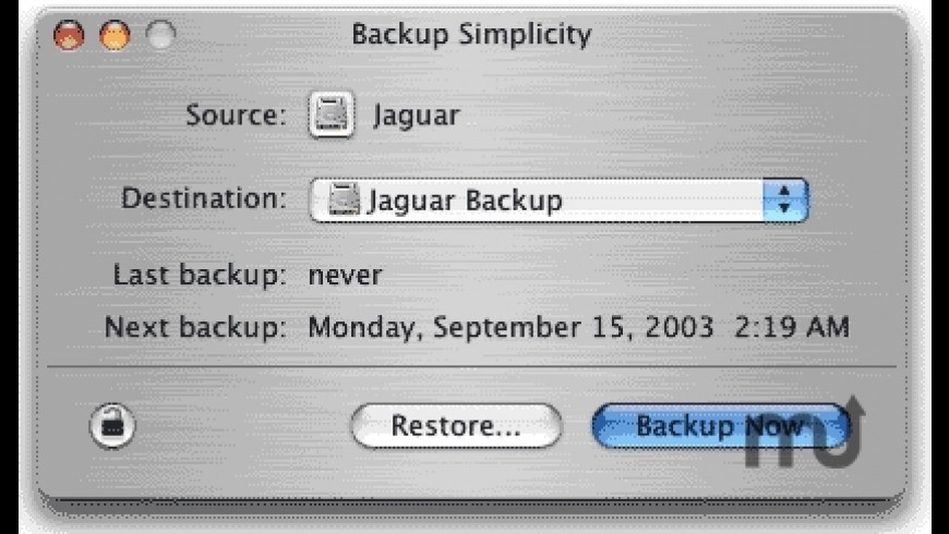 Backup Simplicity for Mac - review, screenshots