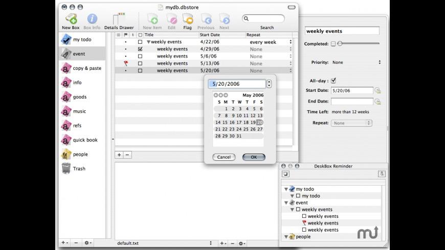 DeskBox for Mac - review, screenshots