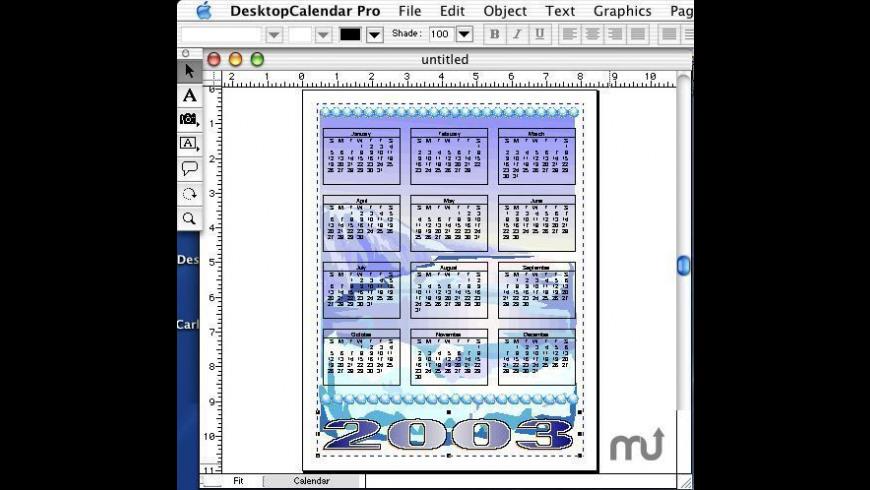 DesktopCalendar Pro for Mac - review, screenshots