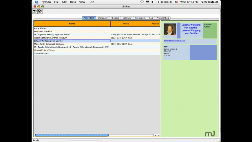 BitPim for Mac - review, screenshots