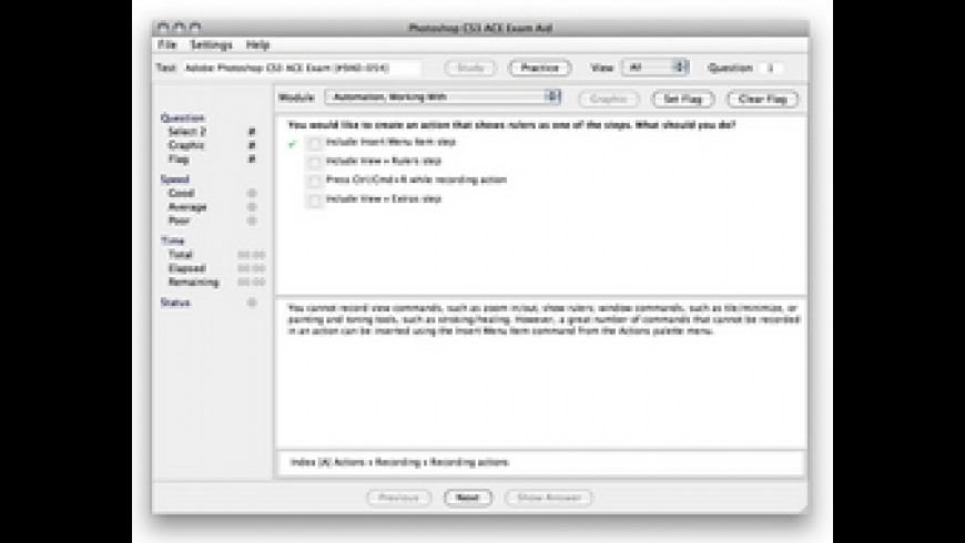 Adobe Photoshop CS5 ACE Exam Aid for Mac - review, screenshots