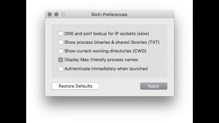 Sloth for Mac - review, screenshots
