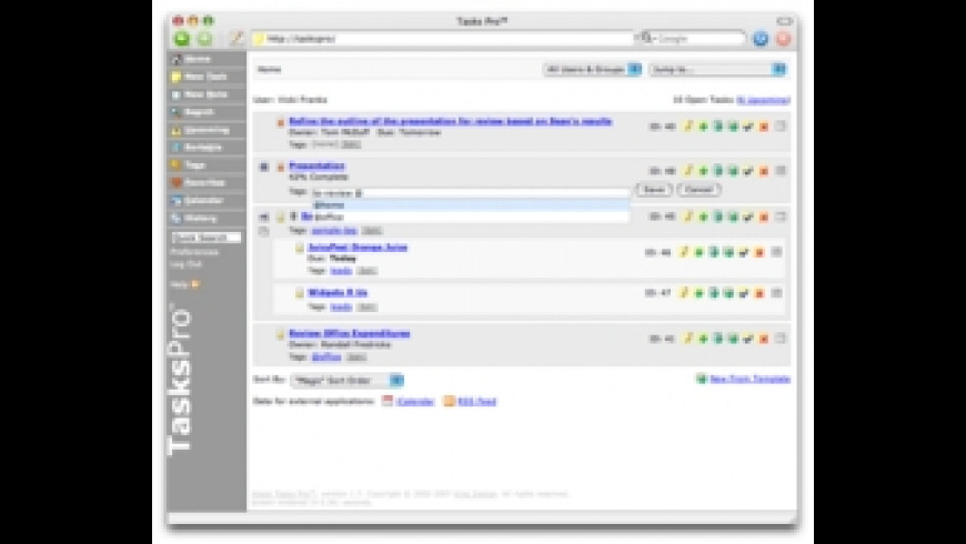 Tasks Pro for Mac - review, screenshots