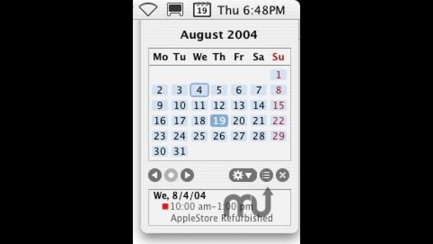 MenuCalendarClock iCal for Mac - review, screenshots