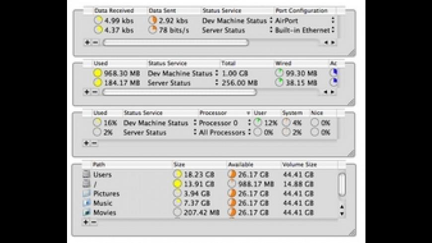 StatusMonitors for Mac - review, screenshots