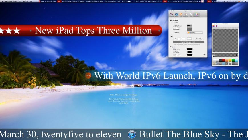 Universal Ticker for Mac - review, screenshots