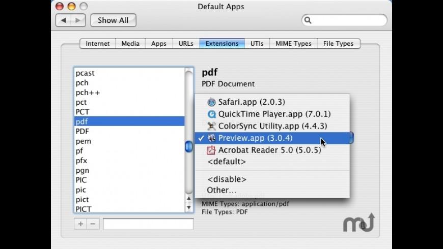RCDefaultApp for Mac - review, screenshots