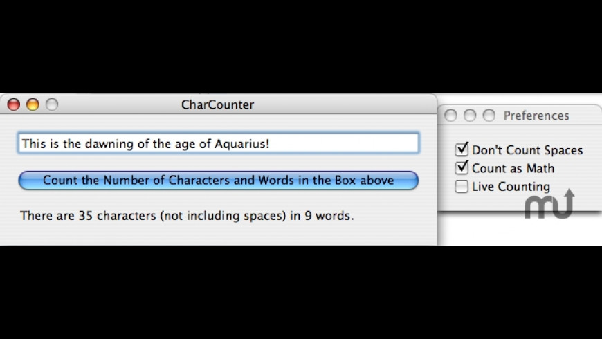 CharCounter for Mac - review, screenshots
