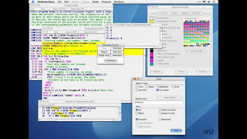 Omikron Basic for Mac - review, screenshots