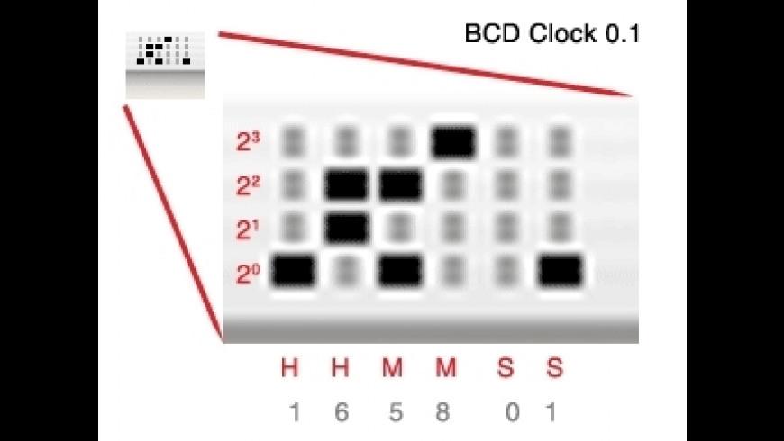 BCDClock for Mac - review, screenshots