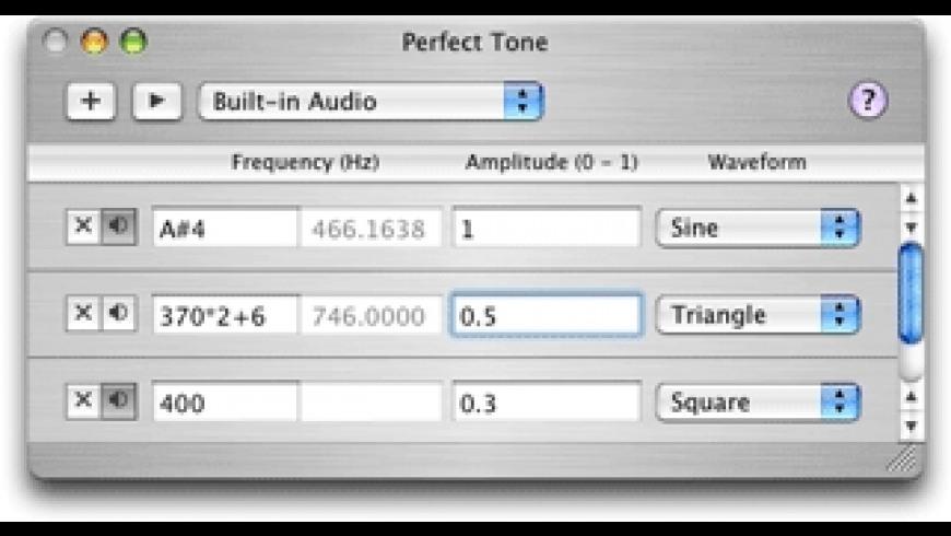 Perfect Tone for Mac - review, screenshots