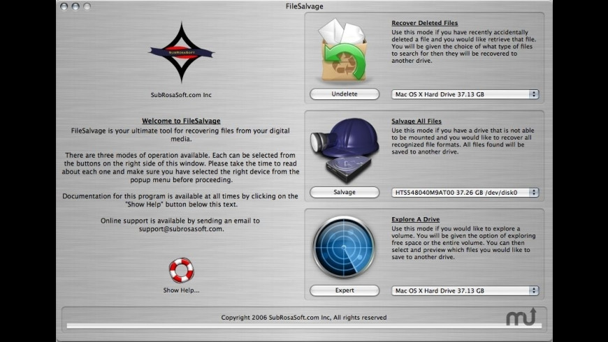 FileSalvage for Mac - review, screenshots