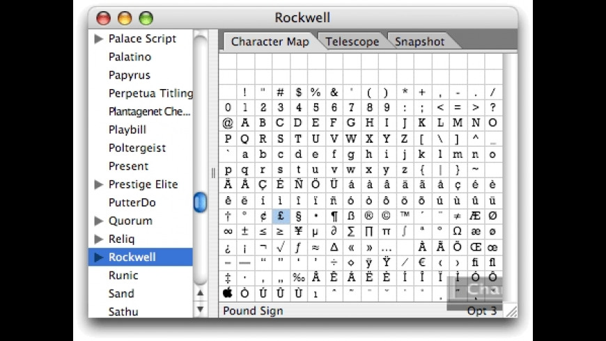Font Safari 1.5.1 Free Download for Mac | MacUpdate on windows character map, iphone character map, microsoft character map, macintosh character map, unicode character map, html character map, wingdings 2 & 3 character map, utf-8 character map, keyboard character map, win 7 character map, facebook character map, computer character map, apple character map, java character map, excel character map, pc character map, font character map, special character map, osx character map,