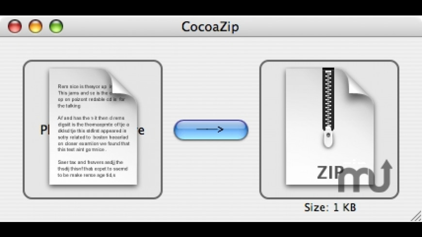 CocoaZip for Mac - review, screenshots