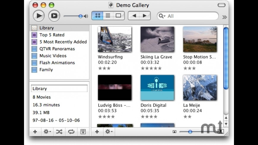 MovieGallery for Mac - review, screenshots