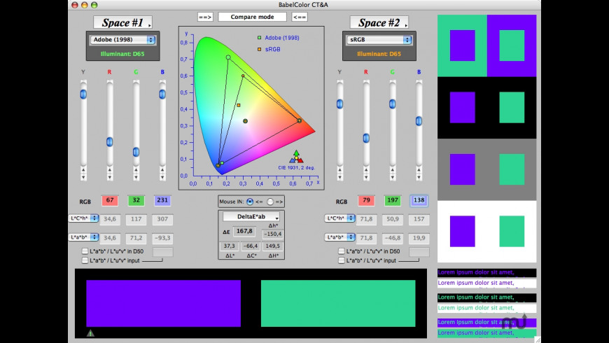 BabelColor CT&A for Mac - review, screenshots