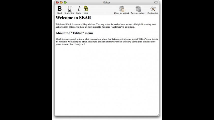 SEAR for Mac - review, screenshots