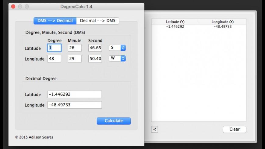 DegreeCalc for Mac - review, screenshots