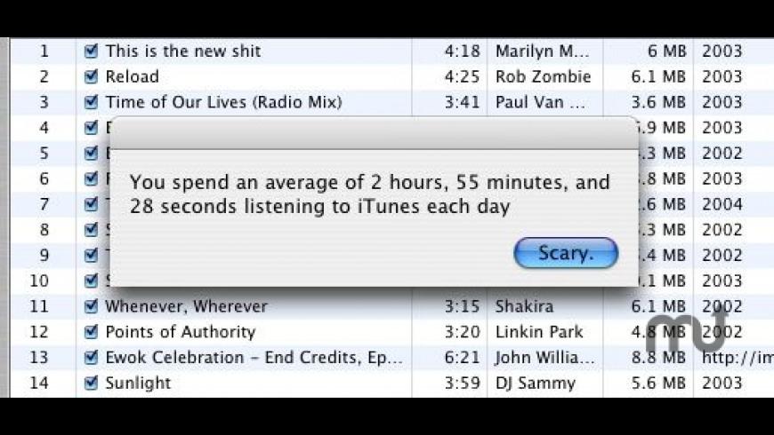 iTuneStats for Mac - review, screenshots
