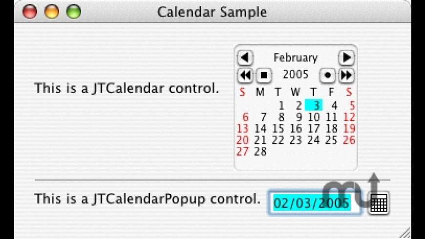 JTCalendar for Mac - review, screenshots