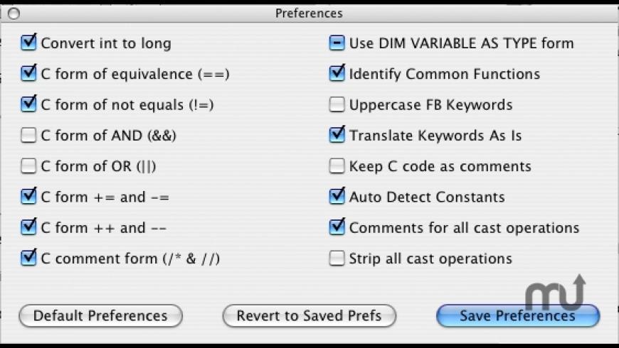 CtoFB3 for Mac - review, screenshots
