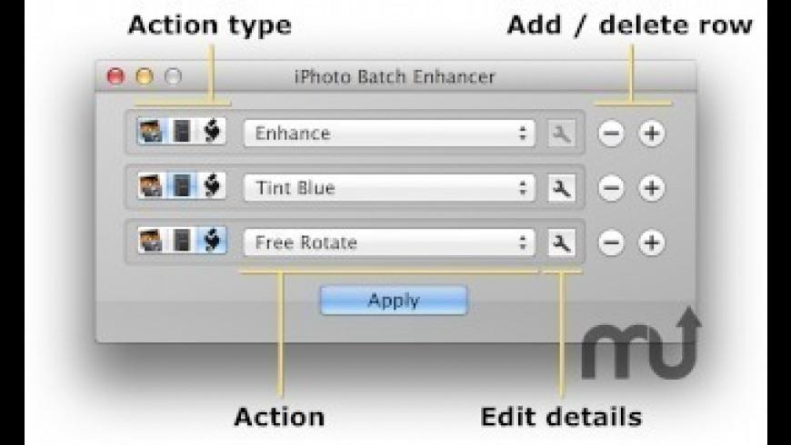 iPhoto Batch Enhancer for Mac - review, screenshots