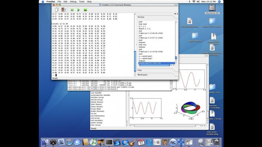 FreeMat for Mac - review, screenshots