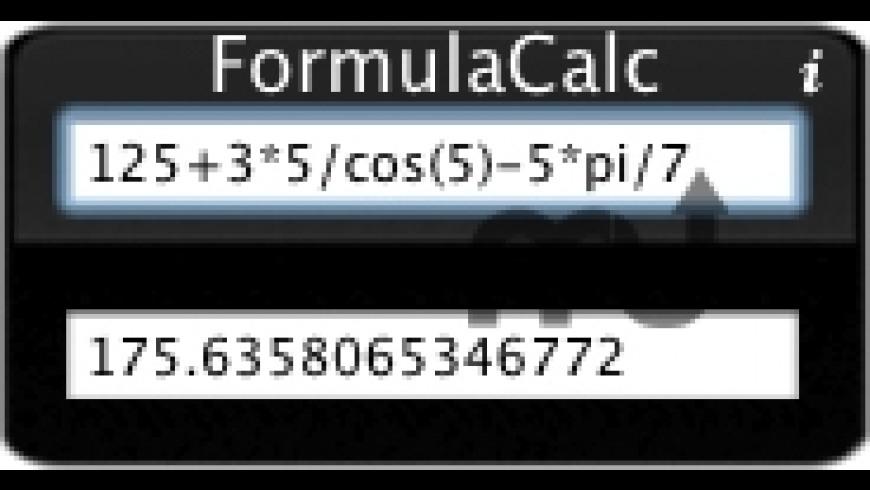 FormulaCalc for Mac - review, screenshots