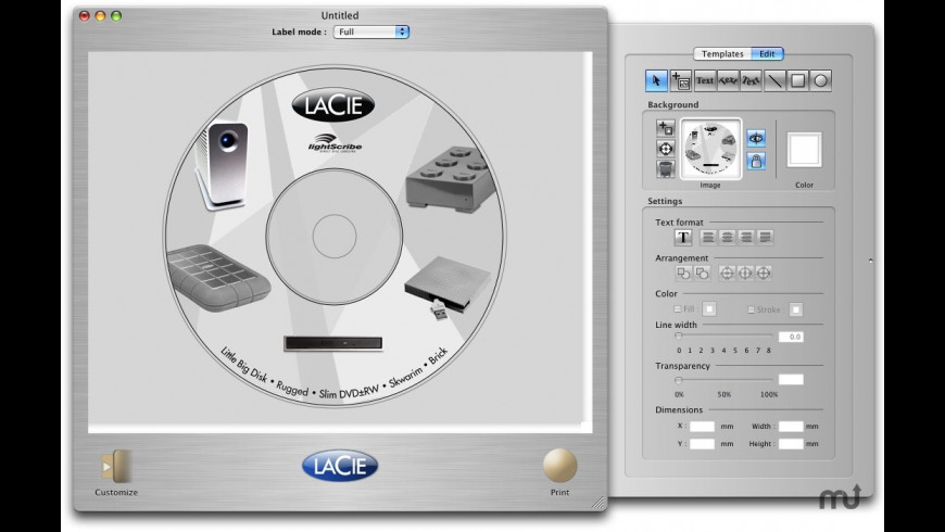 LaCie LightScribe Labeler for Mac - review, screenshots