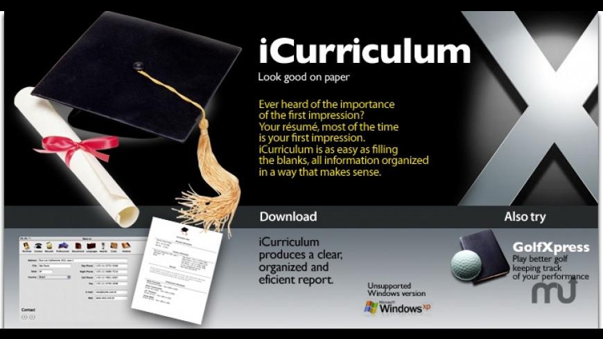 iCurriculum for Mac - review, screenshots