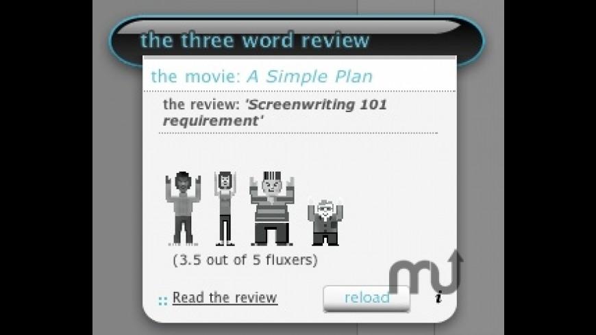 3 Word Review widget for Mac - review, screenshots