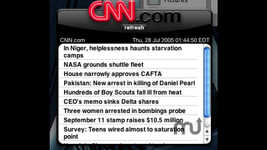 CNN.com Widget for Mac - review, screenshots