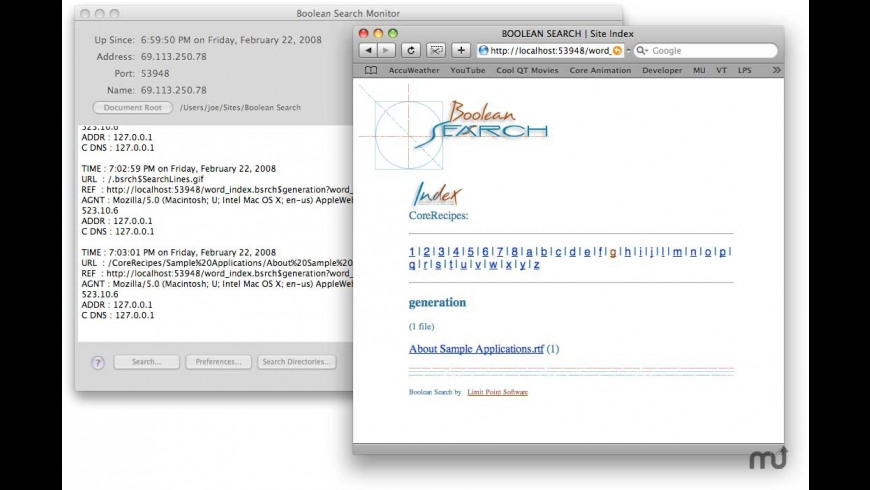 Boolean Search for Mac - review, screenshots