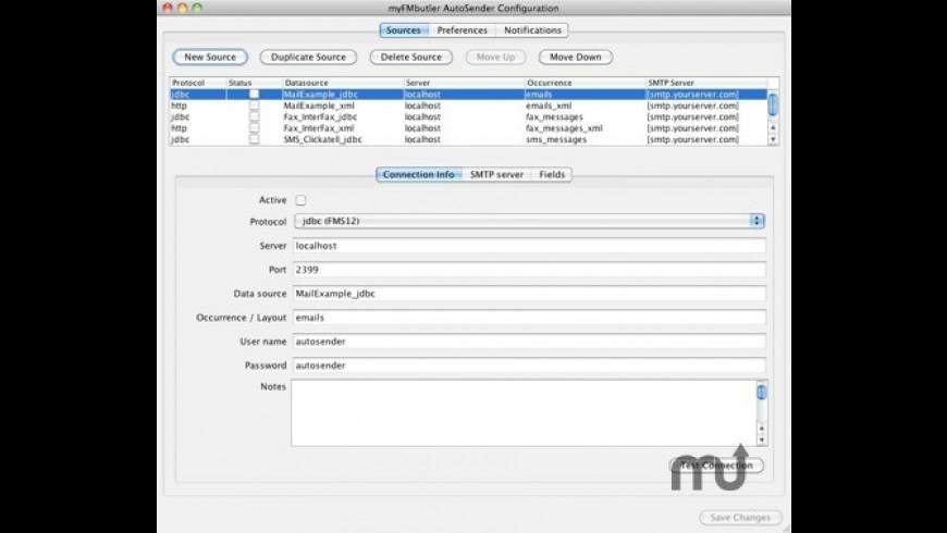 myFMbutler AutoSender for Mac - review, screenshots