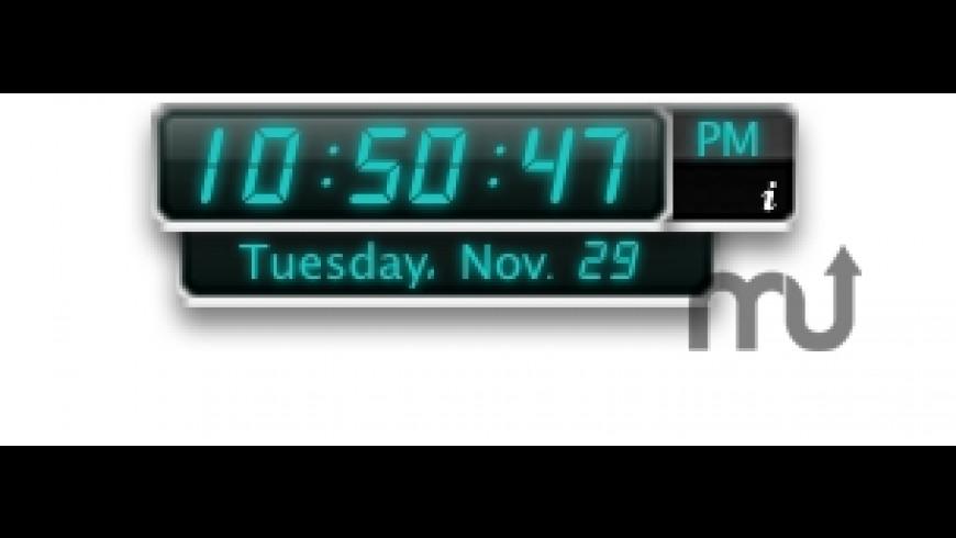 Digital Clock Widget for Mac - review, screenshots