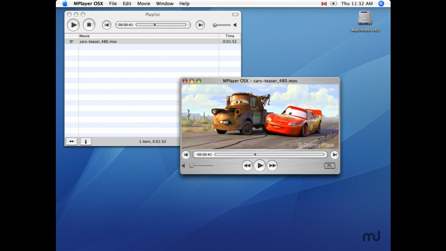 MPlayer for Mac - review, screenshots