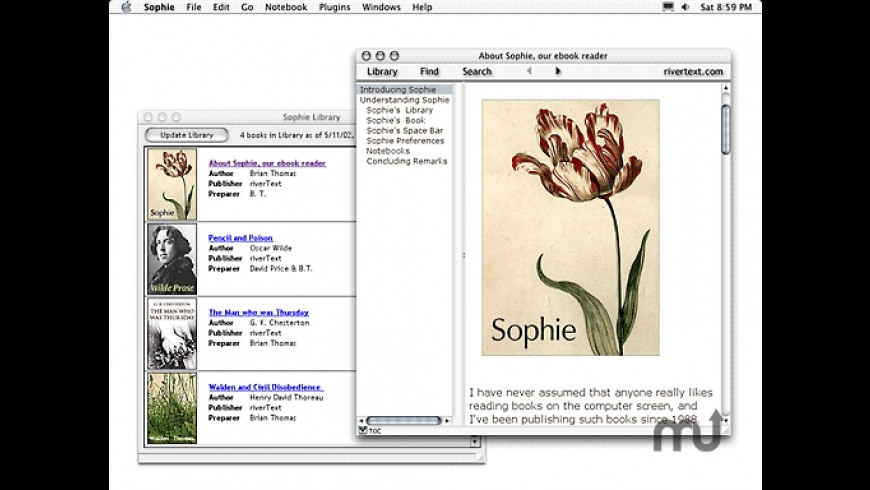 Sophie for Mac - review, screenshots