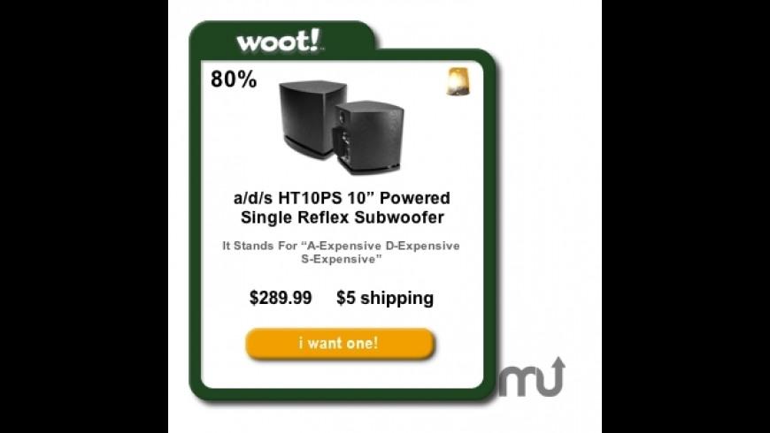 Woot.com Widget for Mac - review, screenshots