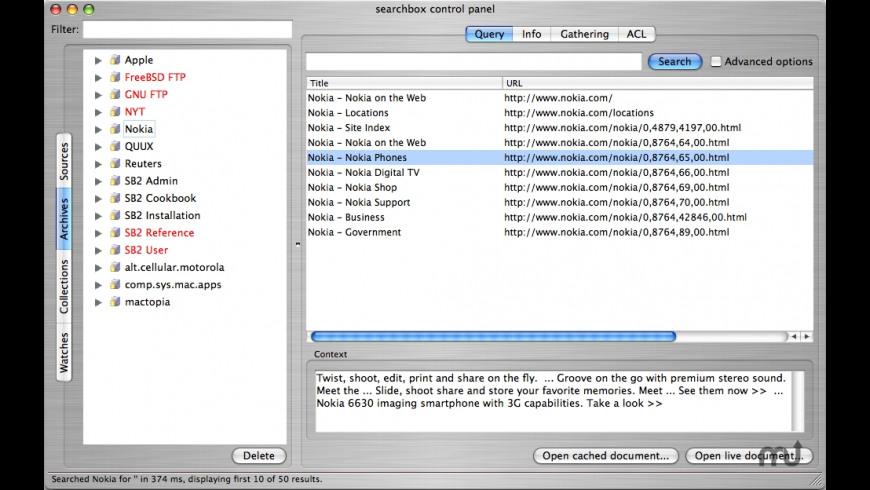 Searchbox for Mac - review, screenshots