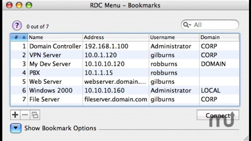 RDC Menu for Mac - review, screenshots